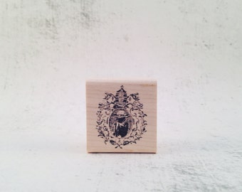 The Yodic Crest Stamp - Sci Fi Star Rubber Stamp - Vintage Sci Fi Wars Illustration - Nerdy Pen Pal Stationary