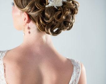 Wedding Headpiece, Bridal Hair Comb, Bridal Lace Headpiece, Bridal Hair Comb
