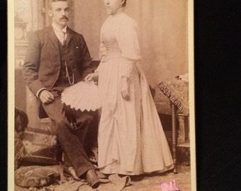 Cabinet Photo Elegant Man & Woman of Cleveland , Ohio - Fan
