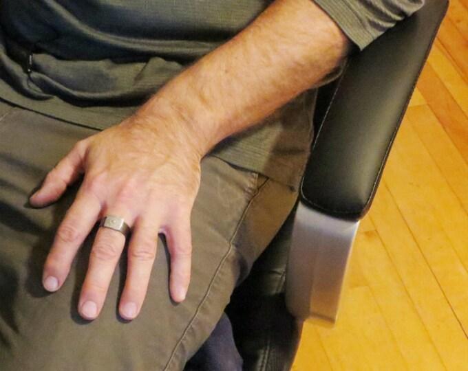 Modern Rustic Guys Ring  Mens Copper Ring Handmade Rings Eco Friendly