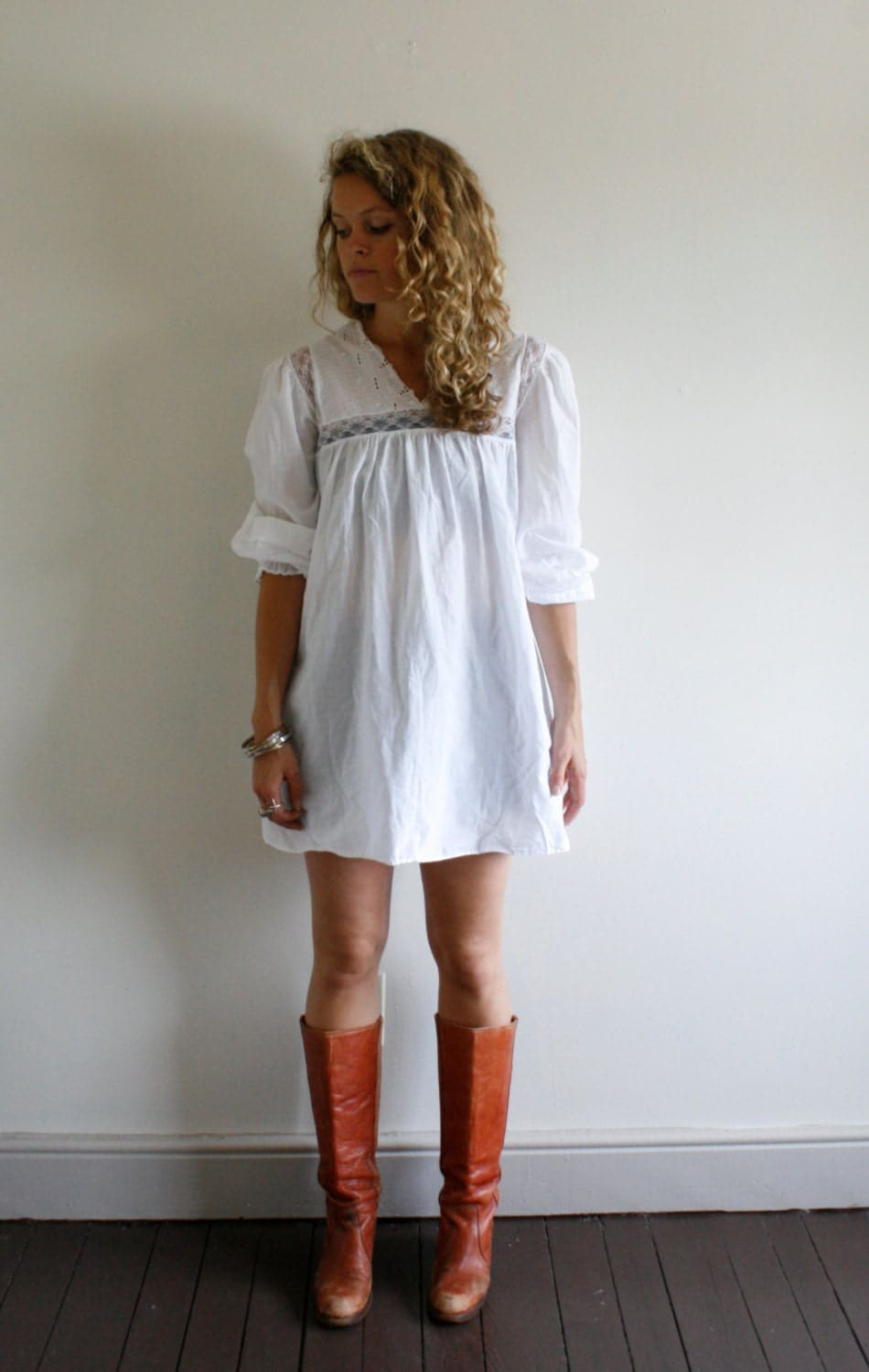 Vintage White Baby Doll Dress by Rosewoodclothingco on Etsy