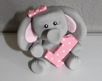 Custom Elephant Cake Topper for Birthday or Baby Shower