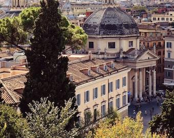 Rome Italy Photography - Italian Print - Piazza del Popolo Photo - Urban Decor - Roman Architecture Travel Photography European City