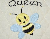 Queen Bee Embroidery Design for Machine Embroidery