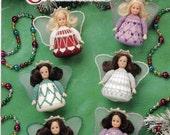 Crochet BIRTHSTONE ANGEL ORNAMENTS by Norma Gale, Annie's Attic 1998