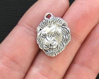 4 Lion Charms Antique  Silver Tone - SC2808