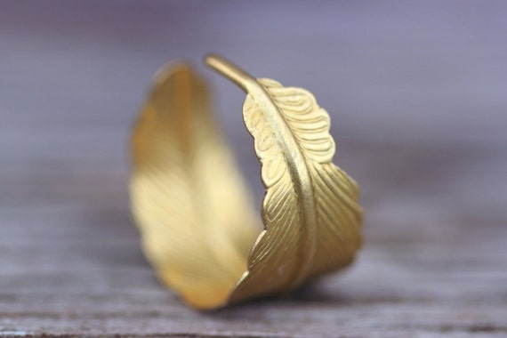 feather ring, bohemian gold wrap ring, bohemian, best seller