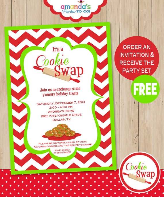 Free template christmas cookie exchange - Christmas recipes online
