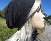 Womens Basic Slouchy Beanies Hats Charcoal Gray A1410