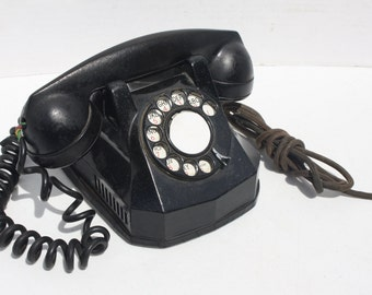 Antique Telephone Art Deco Monophone Rotary Dial Bakelite North Electric Automatic Electric