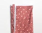 Multi Dot Toddler Blanket - Oversized Pink and Black Dot Print Blanket - Baby Blanket - Modern Baby