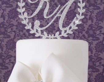 Custom Monogram Cake Toppers - Laurel