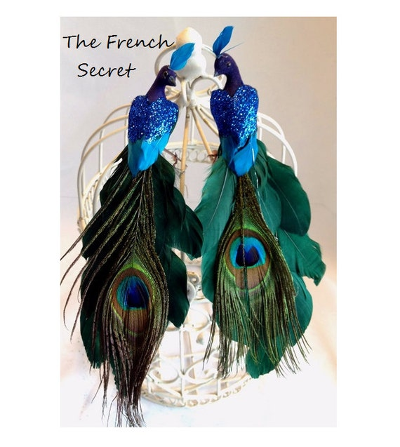 Christmas Peacock Ornament Decoration Tree Topper Decor Rustic