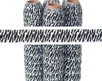 """CLEARANCE! 5/8"""" Zebra Print Fold Over Elastic - 5 YARDS"""
