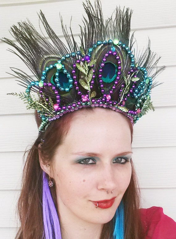 Peacock Carnivale Tiara