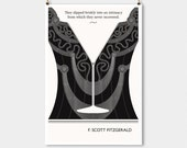 """Literary Art Prints, """"F Scott Fitzgerald"""" Quote Minimalist Poster, Large Wall Art Print, Typography Literary Gifts, Gift for Her"""