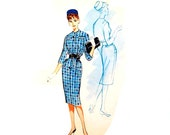 Vintage 1960s Dress Pattern Uncut Stewardess Bust 32 or 36 Size 12 or 16