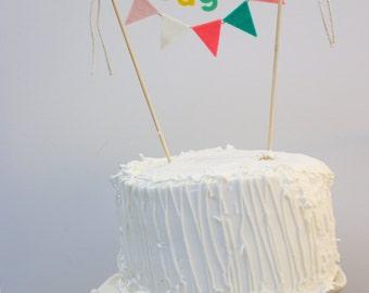 Personalized Cake Banner, Birthday Cake Banner, Custom Cake Banner, Custom Cake Garland, Personalized Cake Garland