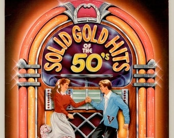Solid Gold Hits of the 50s, Jerry Lee Lewis, Paul Anka, Elvis Presley, Little Richard, Chuck Berry, Dion Vintage Vinyl Record Album RCA LP