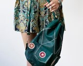 Xmas SALE Green Leather bag