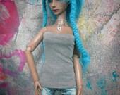 Grey Tube Top 60cm Girl BJD SD/SD13