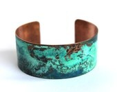 Patina Copper Cuff Verdigris Green Blue