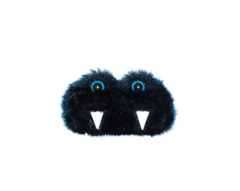 Rae the Eco-Friendly Monster - Dark Blue furry altered Altoids tin - Kawaii