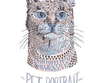 Custom Illustration Pet Portrait Commission