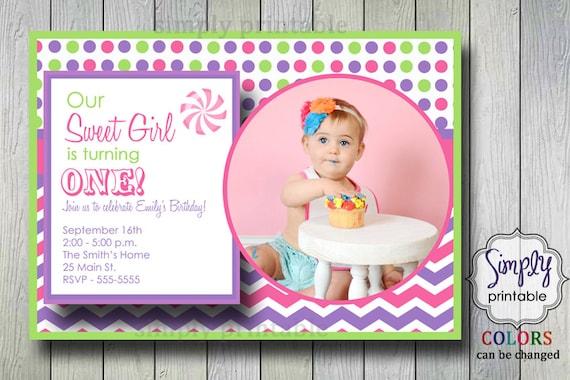 Sweet Birthday Invitation with Photo