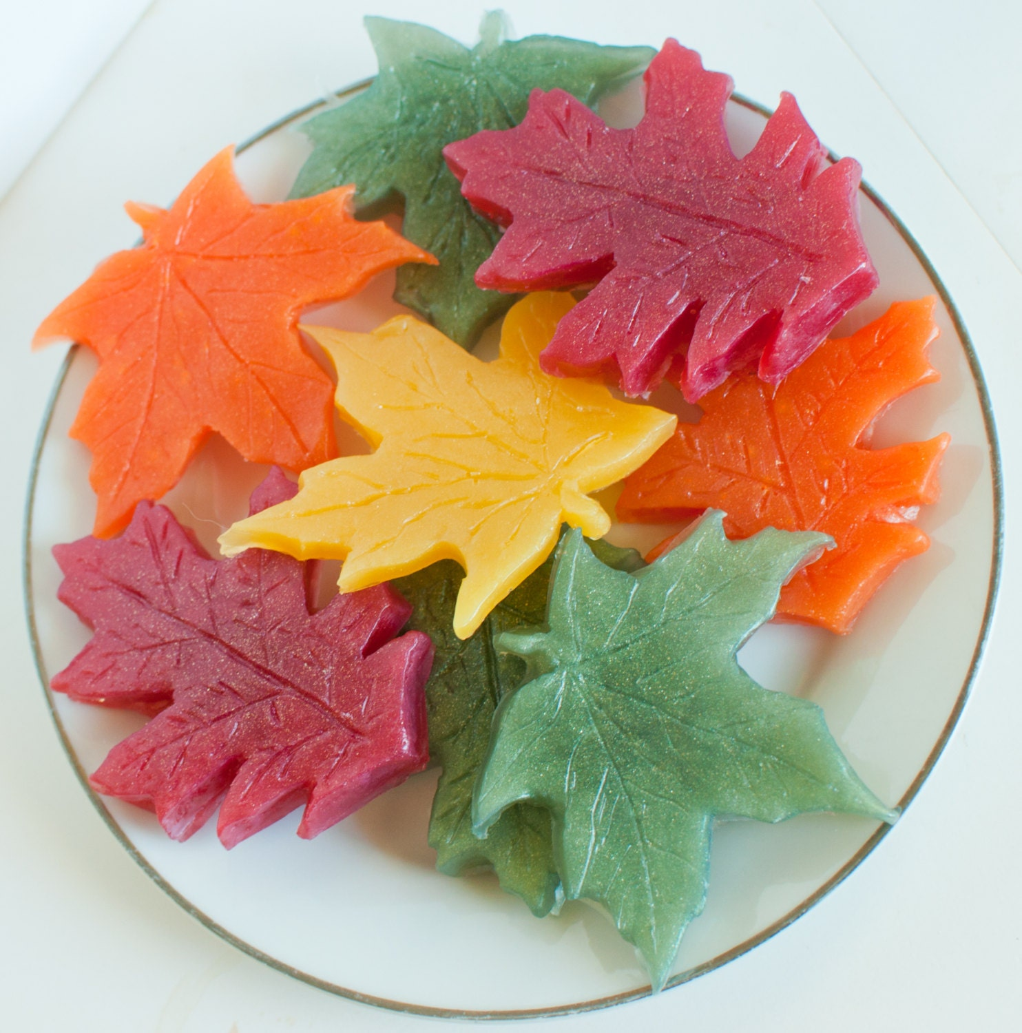 Leaf soaps thanksgiving soap leaves fall soap autumn for Fall soap scents