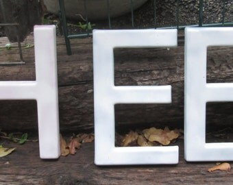 Popular items for large plastic letter on etsy for Large acrylic letters