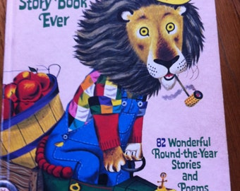 SALE Vintage 70s Children's Book Richard Scarry's Best Story Book Ever Great Graphics