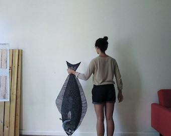 Hayley's Halibut Woodcut Sculpture Print