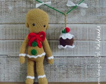 Amigurumi Pattern Crochet Gingerbread PDF & Cupcake Christmas tree ornament - Instant Download