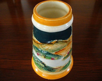 Vintage Handpainted Ceramic Stein Made in Japan Asian Decor Vintage Treasures YourFIneHouse Pencil Holder Affordable Gifts Collectibles