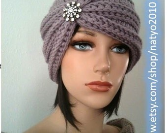 INSTANT DOWNLOAD Turban Style - Rhinestone Beanie - Crochet Pattern