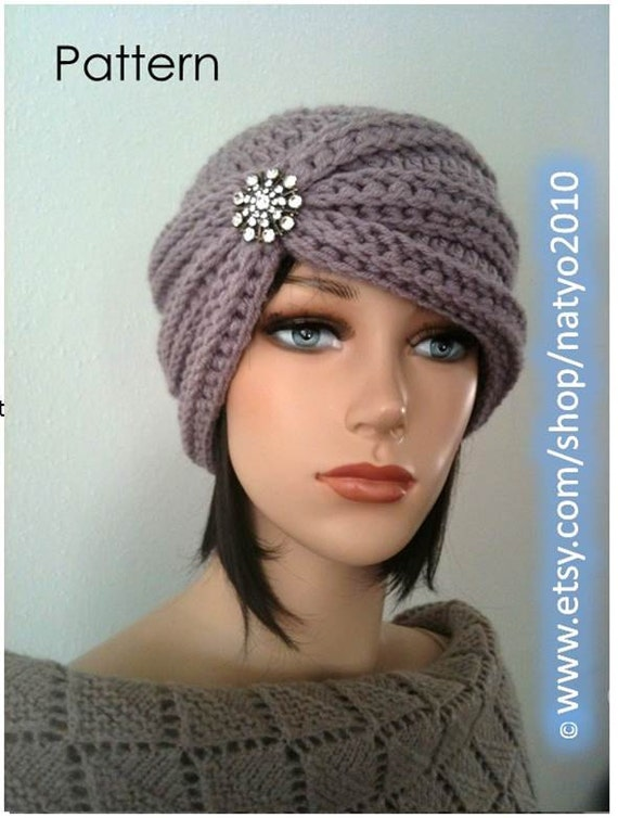 INSTANT DOWNLOAD Turban Style - Rhinestone Beanie ...