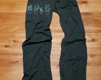 SALE Cactus Pants, Yoga Pants, Lounge Pants,L,XL