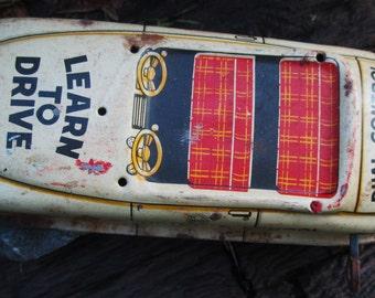 "Vintage Marx Tin Wind Up ""Safe Driving School"" Car.   Repair, Parts, Display.  Y-081"