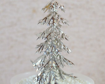 CLEARANCE Frozen Tree Cupcake Topper - 12 Snow Trees- Winter Trees- Winter Cupcake Cake Decorations
