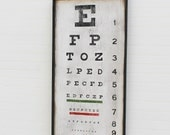 Eye Chart Sign Wall Art Retro Home Decor Optometrists Office Decor