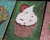 Strawberry glitter Cupcake