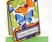 Butterflies Birthday Card with Matching Embellished Envelope
