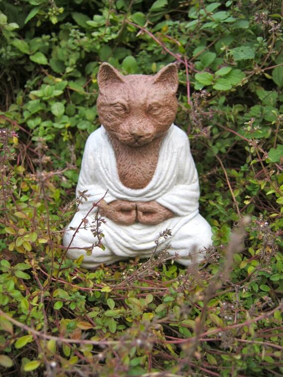 Buddha Cat, Meditating Cat, Concrete Cat Statue, Cat Figure, Cement Cat  Statues Cat Buddha Yoga Cats, Buddha Statues, Buddha Cats And Dogs