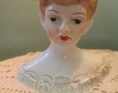 Vintage Lady Head Figurine / 40s Lady / Occupied Japan