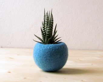 Turquoise planter / Succulent planter / air plant holder / cactus pot / plant vase / modern decor / spring decor