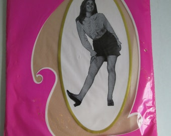 Vintage Seamless Garter Top Stockings.   1 Pair Thigh High Nylons, Cinnamon. Size 11.   NEVER WORN, Sheer Hosiery. Sexy, Pin up.