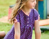 Lily Bird Studio PDF sewing pattern Sandy's tunic -  12 mths to 10 yrs - 3 sleeve options: short, 3/4 sleeve length, long sleeve