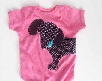 Wiener Dog Dachshund Baby Bodysuit