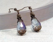 Peacock Bead Earring, Victorian Earring, Jane Austen Style, Wedding Earring, Bridesmaid Jewelry, Edwardian Style Jewelry, Victorian Inspired